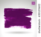 purple brush stroke and texture.... | Shutterstock .eps vector #650135602