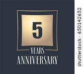 5 years anniversary celebration ... | Shutterstock .eps vector #650142652