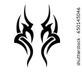 tribal tattoo art designs.... | Shutterstock .eps vector #650145046