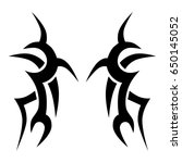 tribal tattoo art designs.... | Shutterstock .eps vector #650145052