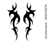 tribal tattoo art designs.... | Shutterstock .eps vector #650145076