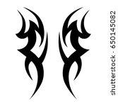 tribal tattoo art designs.... | Shutterstock .eps vector #650145082