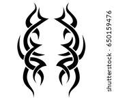 tattoo tribal vector design.... | Shutterstock .eps vector #650159476