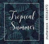 summer tropical | Shutterstock .eps vector #650161972