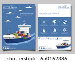 sea shipping poster template... | Shutterstock .eps vector #650162386