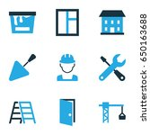 industry colorful icons set.... | Shutterstock .eps vector #650163688