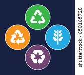 ecological icons set. set of 4... | Shutterstock .eps vector #650165728