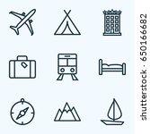 journey outline icons set....   Shutterstock .eps vector #650166682