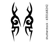 tribal tattoo art designs.... | Shutterstock .eps vector #650168242