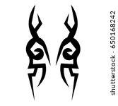 tattoo tribal vector design....   Shutterstock .eps vector #650168242