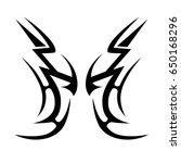 tribal tattoo art designs....   Shutterstock .eps vector #650168296