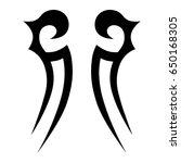 tattoo tribal vector design.... | Shutterstock .eps vector #650168305