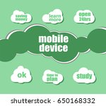 word mobile device. business... | Shutterstock . vector #650168332