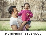 family portrait of cheerful... | Shutterstock . vector #650170036