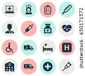 antibiotic icons set.... | Shutterstock .eps vector #650171572