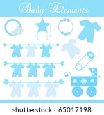 baby boy element set | Shutterstock .eps vector #65017198