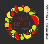 abstract fruit card  organic...   Shutterstock .eps vector #650172322