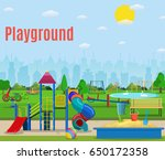 kids playground cartoon concept ... | Shutterstock .eps vector #650172358