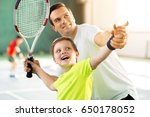 happy child playing sport game... | Shutterstock . vector #650178052