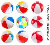 Set Of Various Beach Balls....