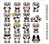 vector illustration set of cute ... | Shutterstock .eps vector #650183662