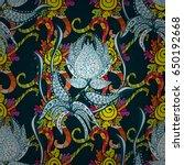 abstract vector seamless... | Shutterstock .eps vector #650192668
