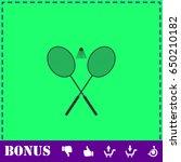 badminton icon flat. simple... | Shutterstock . vector #650210182