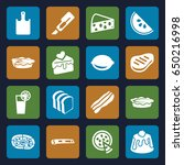 slice icons set. set of 16... | Shutterstock .eps vector #650216998