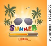 summer loading background with... | Shutterstock .eps vector #650218702