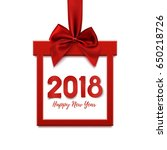 happy new year 2018  square... | Shutterstock .eps vector #650218726