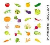 vegetables vector icons... | Shutterstock .eps vector #650221645