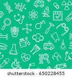 medicine  green background ...   Shutterstock .eps vector #650228455