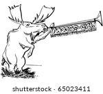 moose call   retro clipart...   Shutterstock .eps vector #65023411