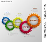 info graphic with abstract... | Shutterstock .eps vector #650237425