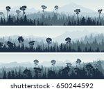 set of horizontal abstract...   Shutterstock .eps vector #650244592