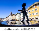well at the old town of bad toelz - bavaria - stock photo