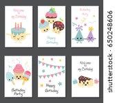 set of beautiful birthday... | Shutterstock .eps vector #650248606