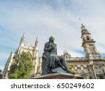 robert burns statue  dunedin... | Shutterstock . vector #650249602