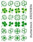 leaf clover collection set.... | Shutterstock .eps vector #650250856