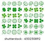 leaf clover collection set.... | Shutterstock .eps vector #650250892