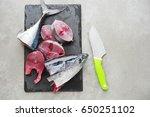 fresh raw tuna. | Shutterstock . vector #650251102