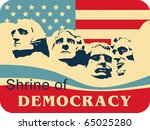 Mount Rushmore â?? Shrine of Democracy, EPS 8, CMYK.