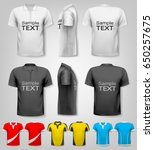 polo shirts with sample text... | Shutterstock .eps vector #650257675