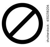 prohibited vector icon   Shutterstock .eps vector #650258206