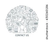 contact us concept. design... | Shutterstock .eps vector #650260186