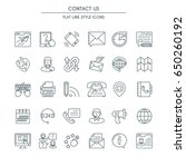contact us icons thin line set. ... | Shutterstock .eps vector #650260192