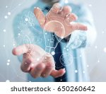 businessman holding hand drawn... | Shutterstock . vector #650260642