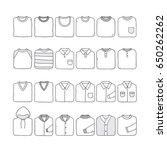 folded shirt set.hand drawn... | Shutterstock .eps vector #650262262