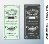 wedding invitation vintage... | Shutterstock .eps vector #650271982