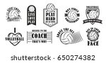 volleyball logo set  creative... | Shutterstock .eps vector #650274382